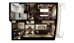 The Haven H3 Owner's Suite with Large Balcony Floorplan