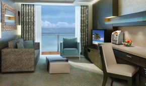 The Haven H6 Aft-Facing Penthouse with Master Bedroom and Balcony Living Room