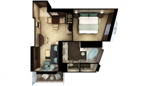 The Haven H7 Forward-Facing Penthouse with Balcony Floorplan