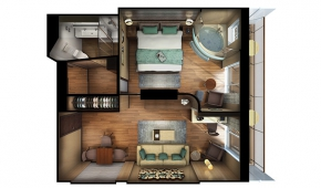 The Haven H8 Deluxe Spa Suite with Balcony Floorplan