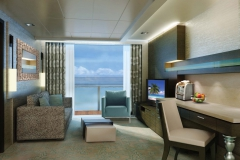 The Haven H7 Forward-Facing Penthouse with Balcony Living Room