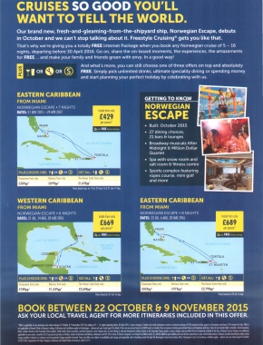 Norwegian Escape Flyer 2