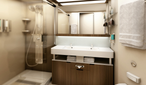 Deluxe stateroom shower