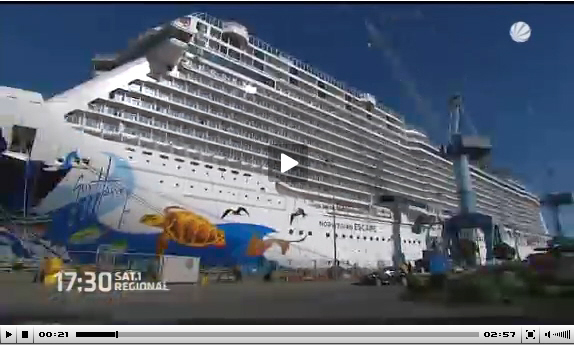 Feinschliff für Luxusliner Norwegian Escape in Papenburg